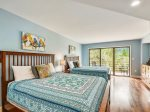 Guest Bedroom with Two Queen Beds and Private Balcony at 3228 Villamare