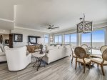 Open Living Space at 3301 Sea Crest offers plenty of seating and a large flat panel TV
