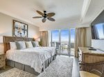 Master Bedroom with Balcony Access and Ocean Views at 3301 Sea Crest