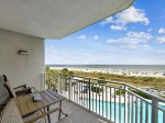 Private 3rd Floor Balcony with Direct Ocean and Pool Views at 3301 SeaCrest