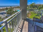 Small Balcony Located off Kitchen with Ocean Views in 3301 Sea Crest