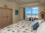 Master Bedroom with Balcony Access at 3403 Sea Crest