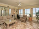 Living Room with Ocean Views at 3403 Sea Crest