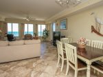 Dining Area with Seating for Six Offers Ocean Views at 3403 Sea Crest
