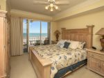 Master Bedroom with King Bed and Ocean Views at 3403 Sea Crest