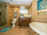 Newly Renovated Master Bathroom with Seperate Tub and Shower at 3403 Windsor Court South