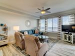 Living Room with Ocean Views and Balcony Access at 3404 Sea Crest