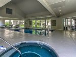 Indoor Hot Tub and Pool at Villamare on Hilton Head Island