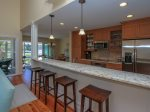 Renovated Kitchen with Breakfast Bar at 38 Lands End Road