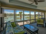 Beautiful Views of Braddock Cove from Screen Porch at 38 Lands End Road