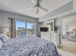 Master Bedroom with King Bed and Balcony Access at 403 Windsor Place