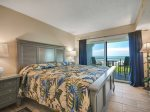 Master Bedroom with King Bed and Ocean Views at 409 Shorewood