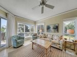 This spacious 1 bedroom Palmetto Dunes villa has a sleeper sofa in the Living Area  - 4210 Windsor Court North