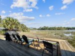Back Deck with Views of Braddock Cove at 42 Lands End Road