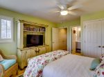 Guest Bedroom with TV and Private Bath at 43 Lands End