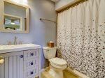 Private Guest Bathroom with Shower/Tub Combo at 43 Lands End Road