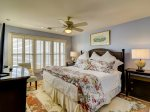 Second Floor Master Bedroom with King Bed and Ocean Views at 43 Lands End Road