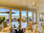 Dining Table on Sun Porch Overlooking Calibogue Sound at 43 Lands End Road