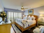 1st Floor Master Bedroom with King Bed and Ocean Views at 43 Lands End Road