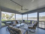Screened Porch with Access from Living Room and Dining Room at 46 Lands End