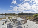 Back Deck with Stunning Views at 46 Lands End Road