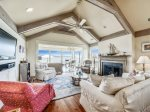 Living Room and Sun Room with Water Views at 49 Lands End Road