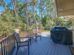 Small Deck off Kitchen with BBQ grill at 4 Armada