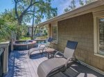 Small Covered Deck with Access to Beach Path at 4 Armada