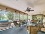 Screened Porch off Living Room with Pool Deck Access at 4 Audubon Pond