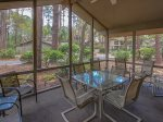 The spacious Screen Porch at 4 Cedar Wax Wing is located just off the main living area