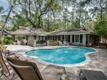 Pool Deck with BBQ Grill and Plenty of Seating at 4 Greenwood Court