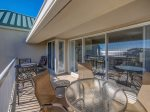 Spacious Balcony with Dining Table at 502 Barrington Arms