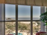 Oceanfront View from the Living Room at 5505 Hampton Place
