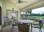 Screen Porch with Wonderful Golf Course Views at 553 Ocean Course