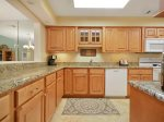 Kitchen with Granite Counters at 553 Ocean Course