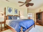 Upstairs Master Bedroom with King Bed at 5 Long Boat