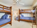 Downstairs Guest Bedroom with Bunk Beds at 5 Long Boat