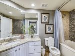 Renovated Master Bathroom with Shower/Tub Combo at 6403 Hampton Place