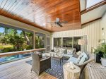 Large Screen Porch overlooking Pool at 66 Heritage Road