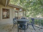 Outdoor Deck Located off Screened Porch and Master Bedroom at 68 Heritage Road