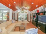 Living Room Opens to Pool Area and Screened Porch with Golf Views at 68 Heritage Road