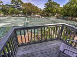 Private Balcony off Master Bedroom with Tennis Court Views at 6 Beachside