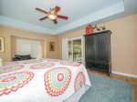 Master Bedroom with Private Access to Screened Porch at 6 Jessamine Place