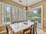 Dining Room with Seating for 6 at 6 Wood Ibis