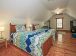 Upstairs Bonus Room with Twin/Trundle Beds at 74 Baynard Cove
