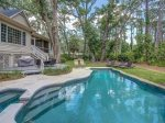 Spacious Backyard with Pool and Spa at 74 Baynard Cove