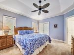 Master Bedroom with King Bed at 8122 Wendover Dunes