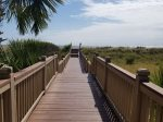 Beach Boardwalk with Stairs and Small Ramp for Beach Carts at Wendover Dunes