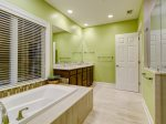 New Master Bathroom with Tub and Walk-in Shower at 8134 Wendover Dunes