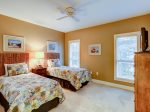 Guest Bedroom with Two Twin Beds at 8134 Wendover Dunes